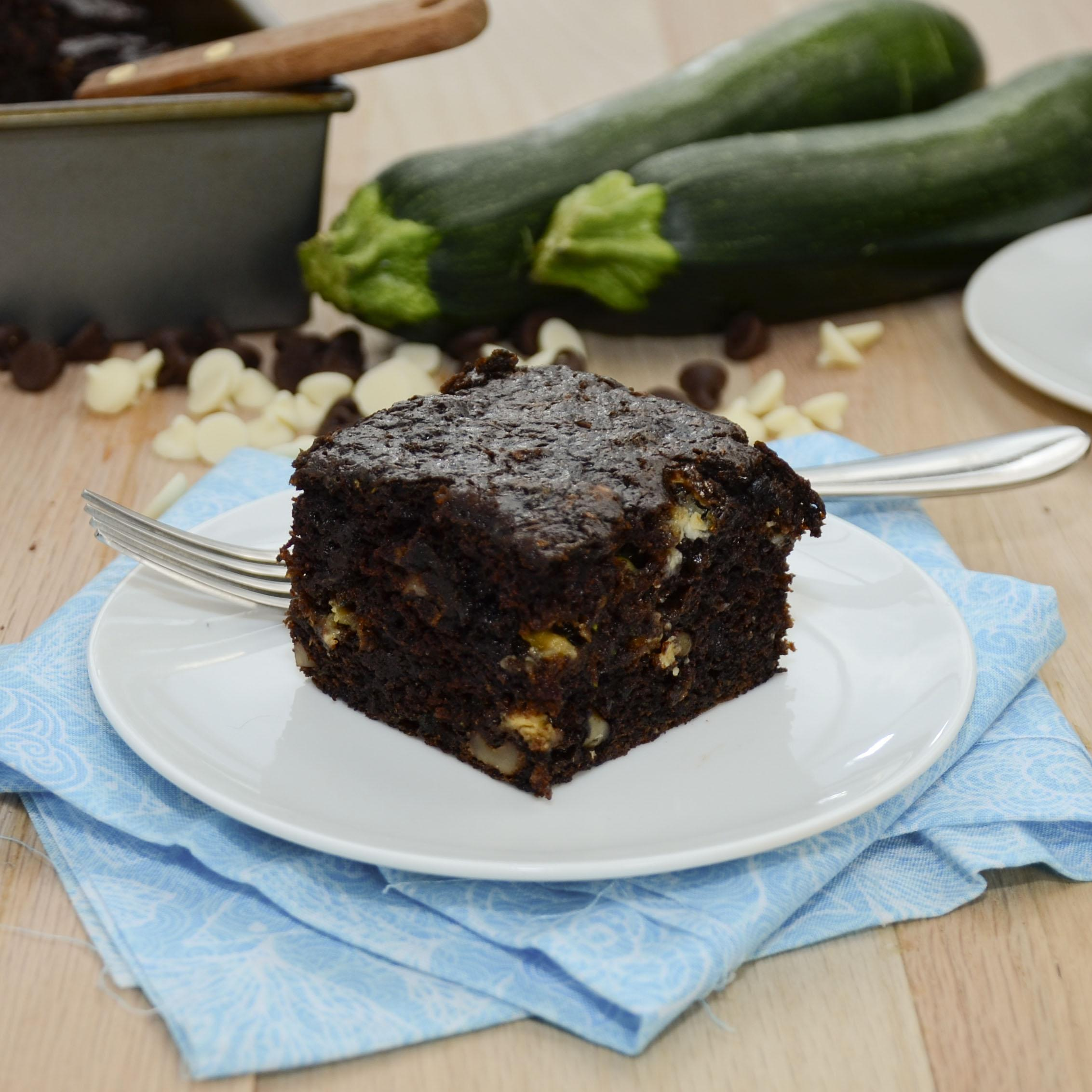 Chocolate Fudge Courgette Brownies