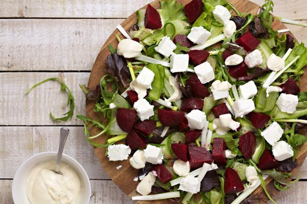 beetroot and goats cheese salad